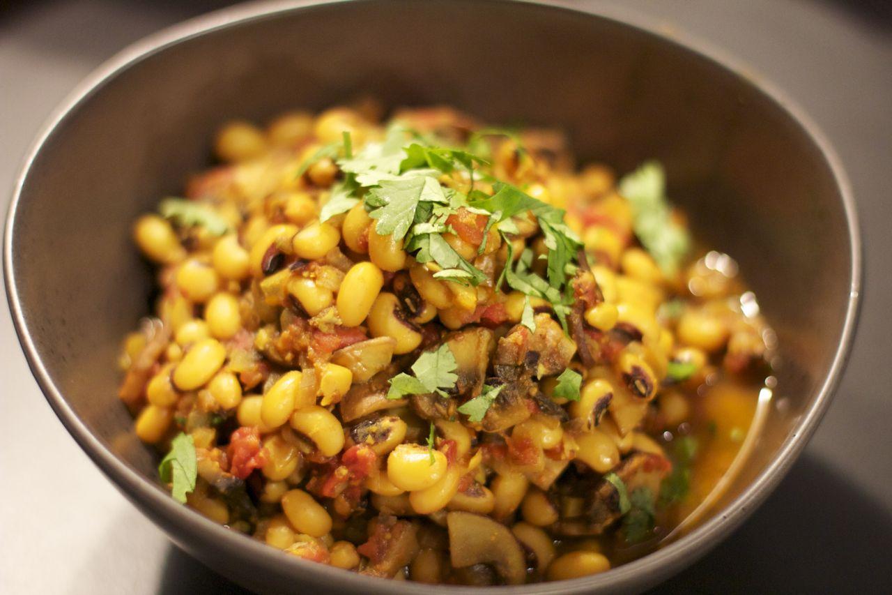 Haricots cornille et champignons à l\u0027indienne (Vegan, Gluten Free)