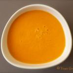 Soupe de tomate, coco, gingembre